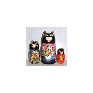 Funny black Cow Family 3set
