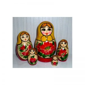 Nolinsk 5 set (Yellow with Red Dress )