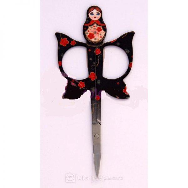 Babushka scissors set of 3 - ORANGE, BLACK & Blue