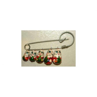 Pin/Brooch Five Santas