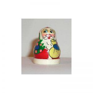 Trinket Thimble Babushka Santa x3