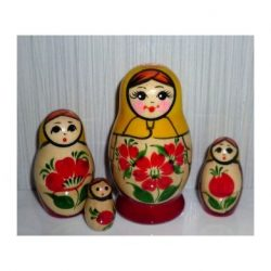 Nolinsk Yellow scarf Red dress 4-set