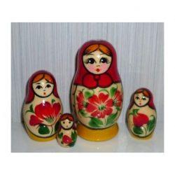 Nolinsk Red scarf Yellow dress 4-set