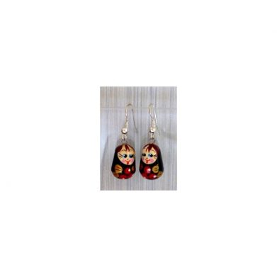 Earrings black cherries