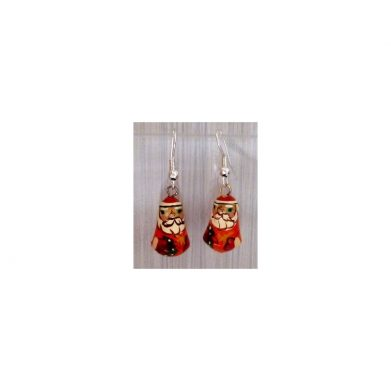 Earrings Santa red
