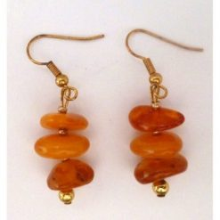 Earrings selected amber