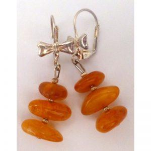 Earrings selected amber