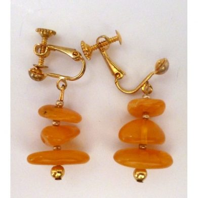 Earclips selected amber 1