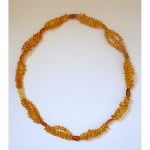 Necklace Amber 'Three strings'