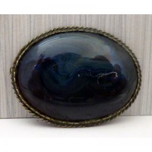 Brooch with Volcanic stone 1
