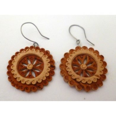 Birch Bark Earrings 2