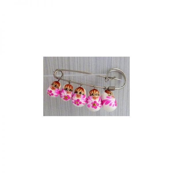Pin white and pink flowers