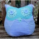 Owl Pillow - Blue
