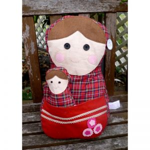 Babushka Pillow Red 2-set