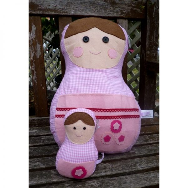 Babushka Pillow Pink 2-set