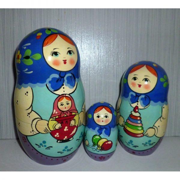 Village Girls with Toys 10-set
