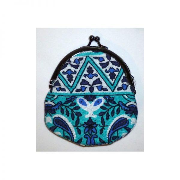 Coin purse Babushka (clip) blue