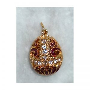 Imperial Finift' pendant in red