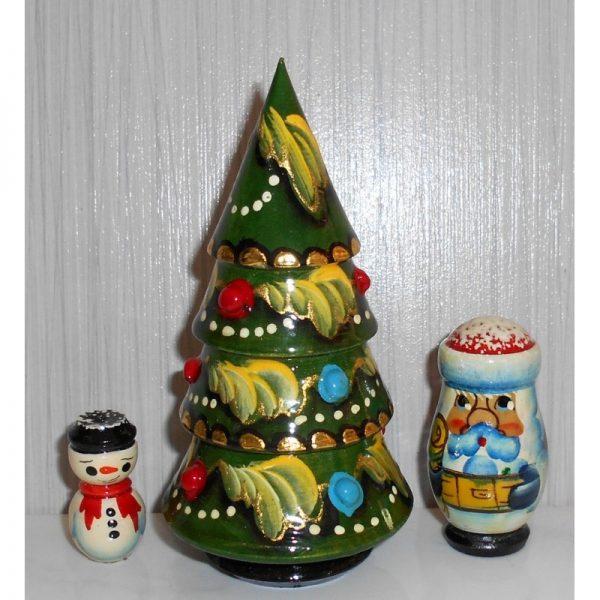 Xmas Tree, Santa and Snowman