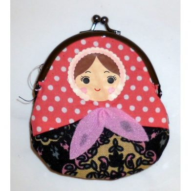 Coin purse Babushka in black