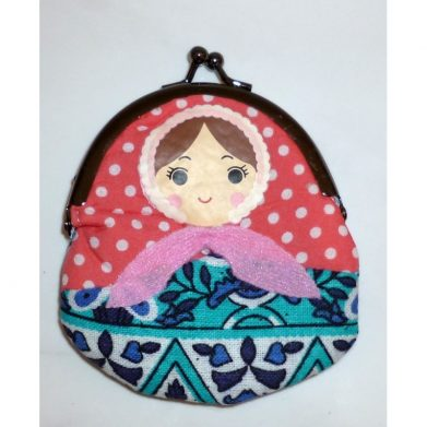Coin purse Babushka in blue