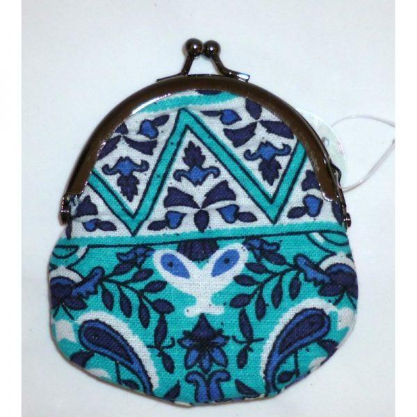 Coin purse Babushka in blue