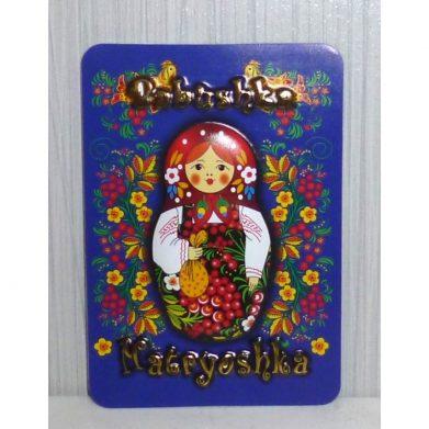 Blue Babushka 3D fridge magnet