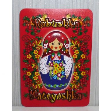 Red Babushka 3D fridge magnet