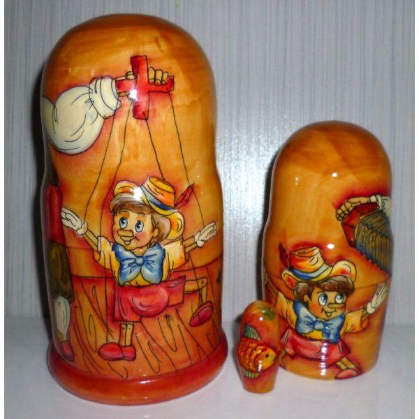 Pinocchio on wood