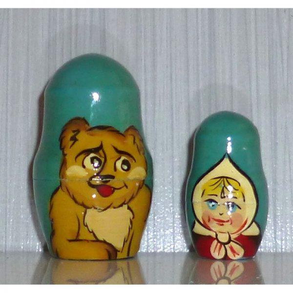 Goldilocks on blue small