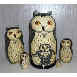Funny Grey Owl