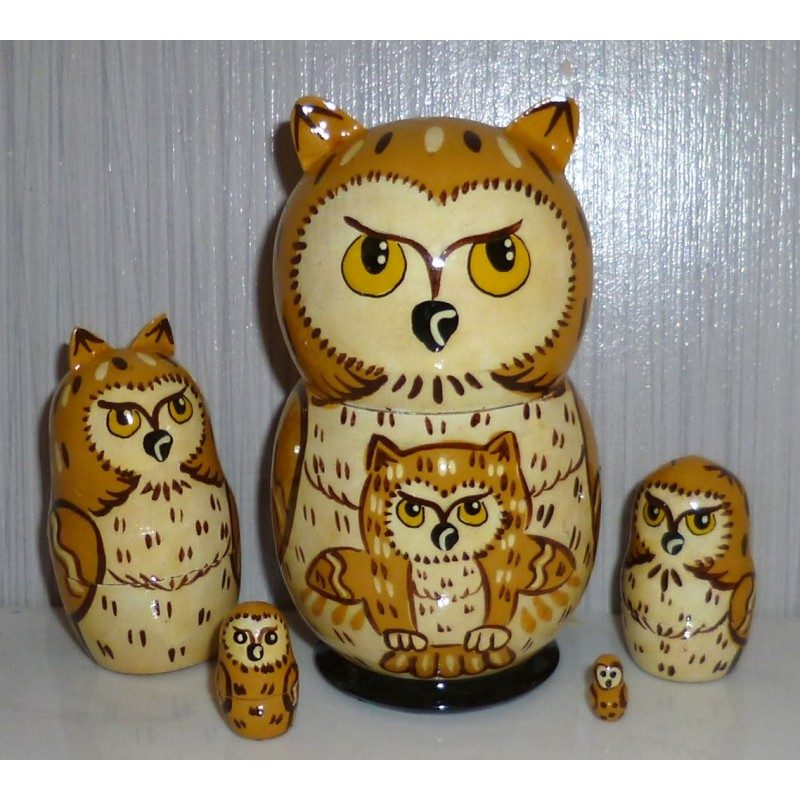 Funny light brown Owl small