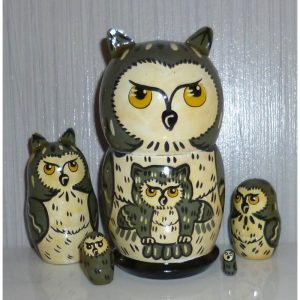 Funny dark grey Owl small