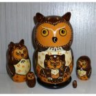 Funny dark bown Owl small