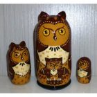 Albert the Owl dark brown small