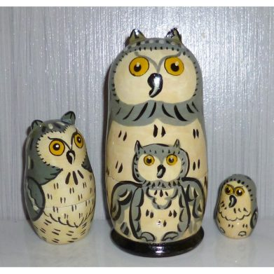 Albert the Owl grey small