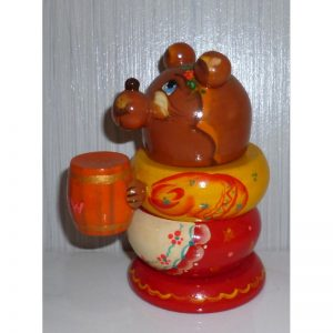 Bear with honey stacking toy