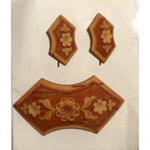 Birch Bark set (earrings + broach)