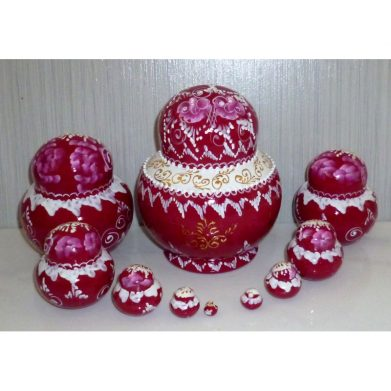 Bride in cherry-red 10-set