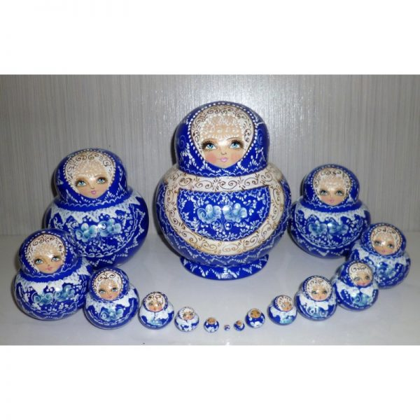 Bride in blue and gold 15-set