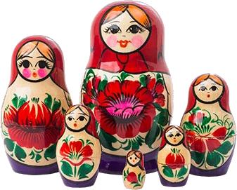 Dolls in Dolls- babushka, babushkas, russian nesting dolls